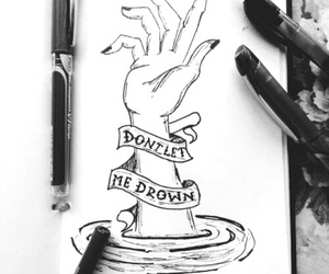 drawing, art, and drown image
