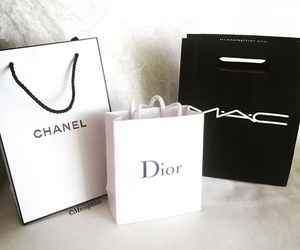 chanel, dior, and mac image