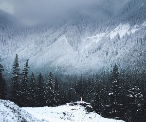 winter, snow, and mountains image