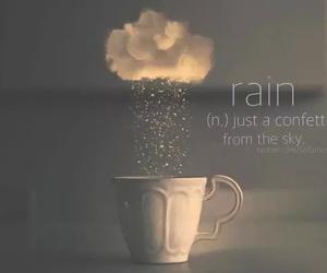 rain, words, and confetti image