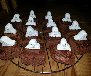 autumn, brownies, and food image