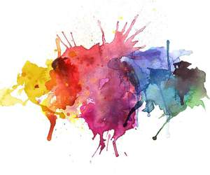 colorful and watercolor image