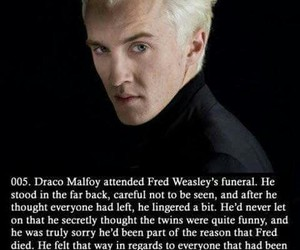 draco malfoy, harry potter, and fred weasley image