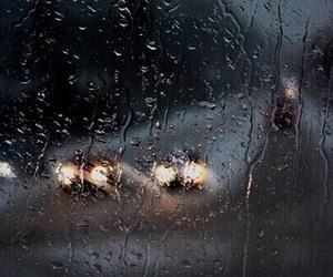 rain, car, and autumn image