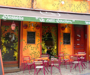 brussels and cafe image