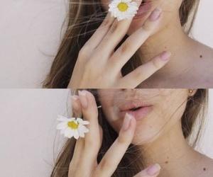 flowers, girl, and smoke image