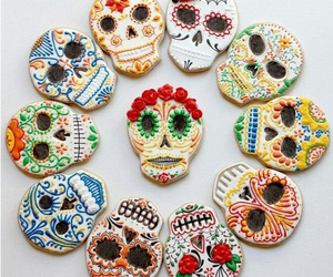 Cookies, skull, and food image