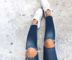jeans, fashion, and nike image