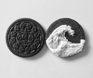 oreo, food, and waves image