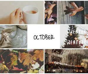 autumn, Collage, and october image