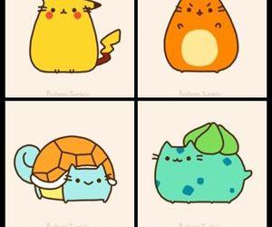 pokemon, pusheen, and cat image