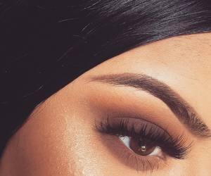 makeup, eyebrows, and beautiful image