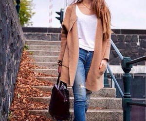 fall, jeans, and look image