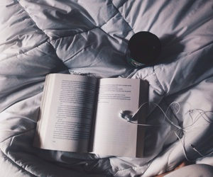 book, bed, and boho image