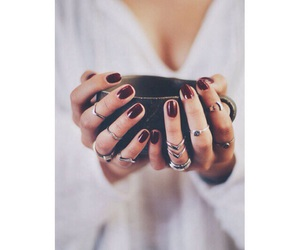 rings, nails, and girl image