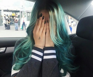 hair, blue, and melina image