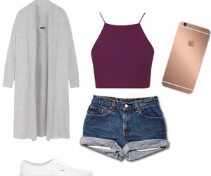outfit, phone, and Polyvore image