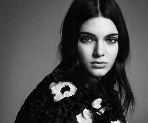 kendall jenner, black and white, and model image