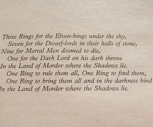 LOTR, lord of the rings, and text image