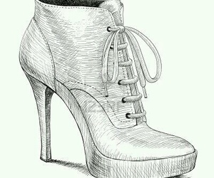 drawing, shoes, and sketch image