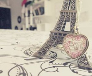 paris, heart, and eiffel tower image