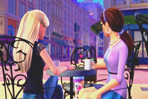 barbie, girls, and movie image