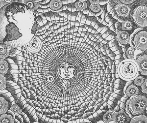 alchemy, galaxy, and moon image