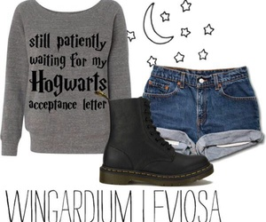 gryffindor, hogwarts, and outfit image