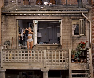 vintage, house, and rear window image