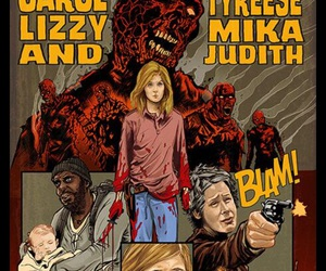 lizzy, mika, and the walking dead image