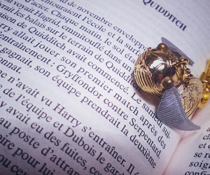 golden snitch, gryffindor, and harry potter image
