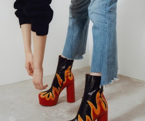 fashion, fire, and shoes image