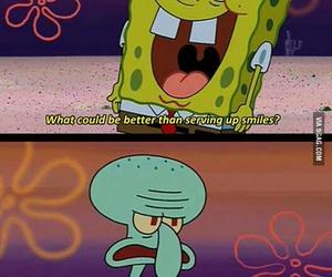 funny, spongebob, and squidward image