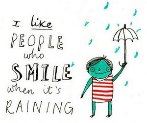 rain, smile, and raining image
