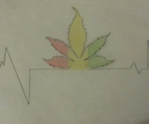 cannabis, draws, and peace image