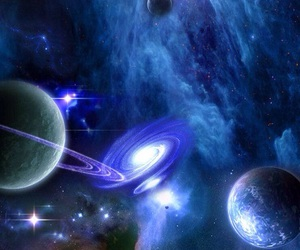 galaxy, planet, and universe image