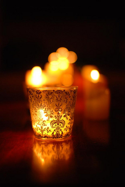 bokeh, candle, and candlelight image