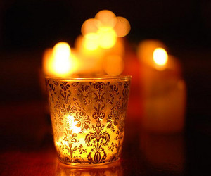 bokeh, candle, and dark image