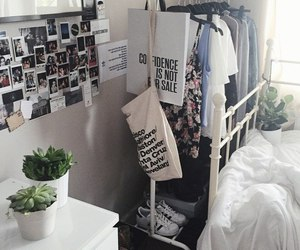 room, pale, and plants image