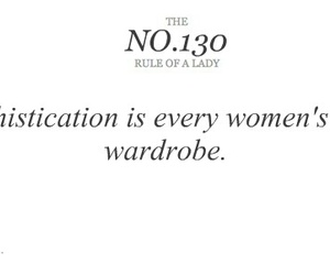 quote, lady, and Sophistication image