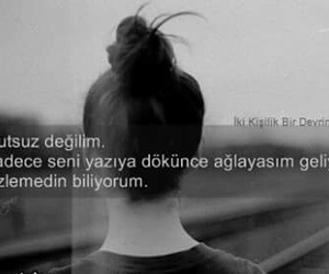 turkce, özledim, and sözler image