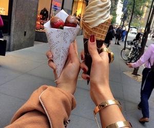 food, ice cream, and beauty image