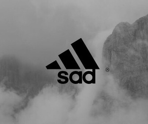 sad, adidas, and grunge image