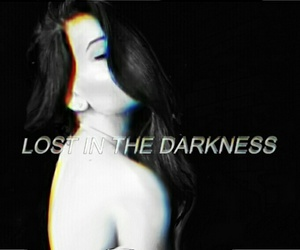 black, black and white, and Darkness image