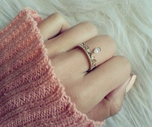 ring, pink, and nails image