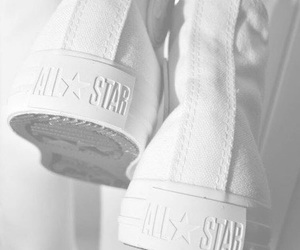 white, converse, and shoes image