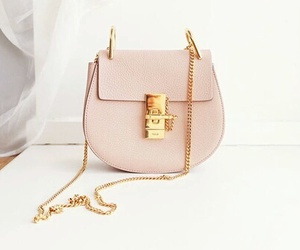 bag, gold, and pink image