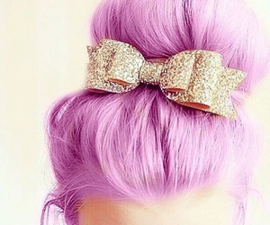 fashion, gold, and pink hair image