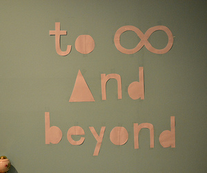 text, infinity, and beyond image