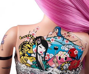 barbie, ink, and Tattoos image